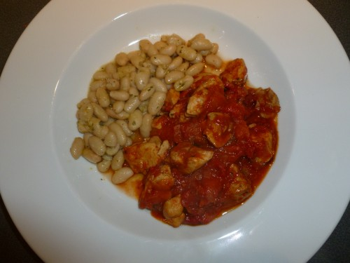 "Chicken with Tomatoes & Peppers"" and ""Cannellini Beans with ..."