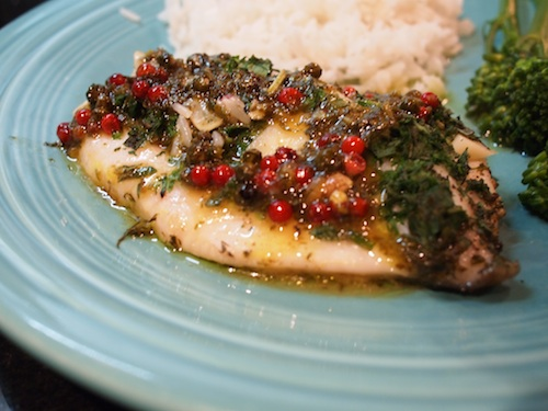 John dory with orange fine herbs pink peppercorns for John dory recipe