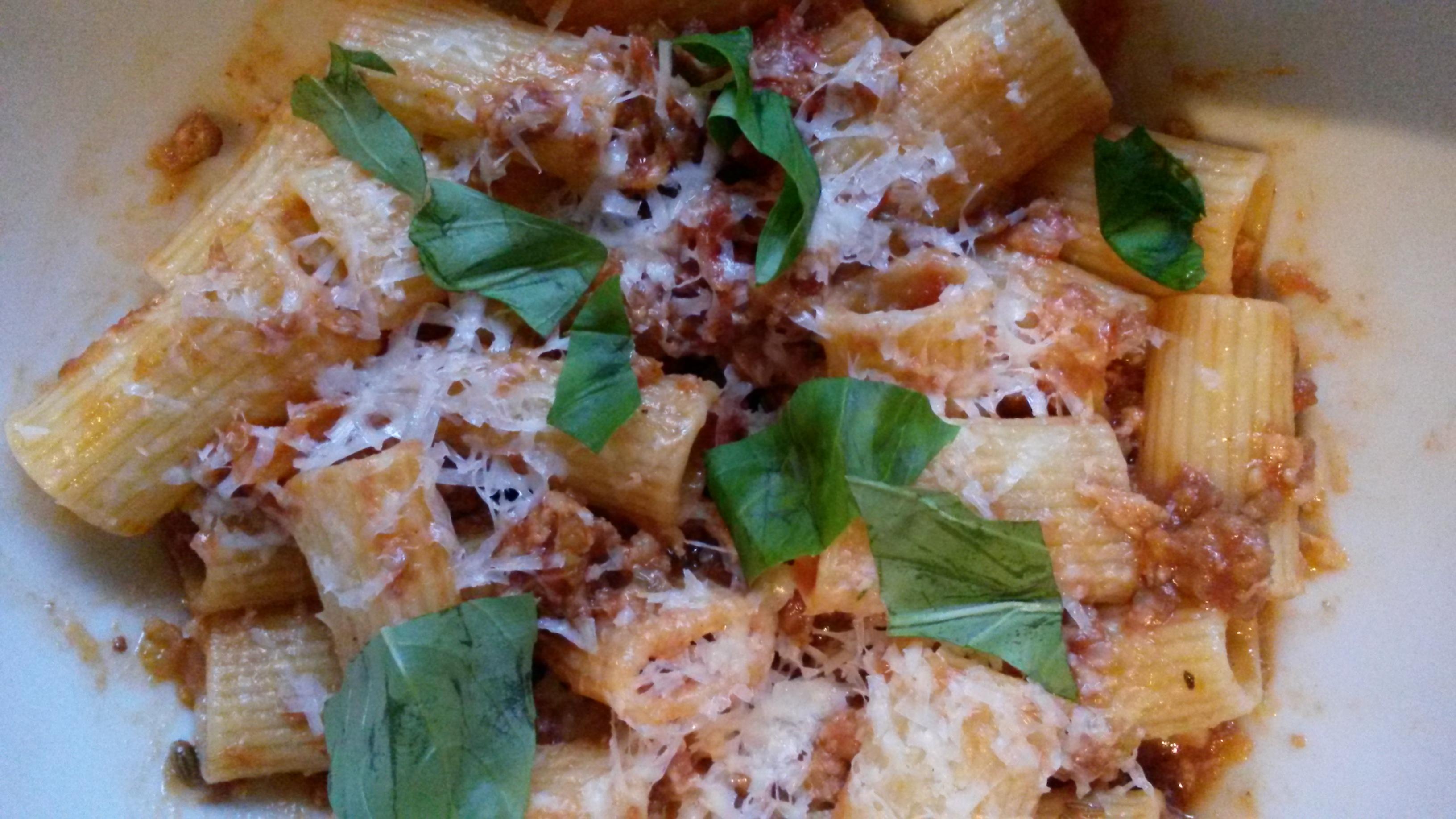 "Rigatoni and Umbrian Sausage Ragu"" from ""Bill's Italian Food ..."