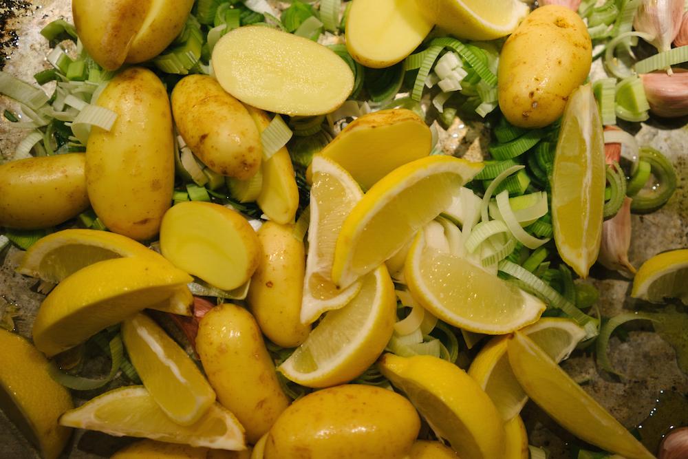 Roast Chicken With Lemon And Rosemary Roast Potatoes Recipe ...